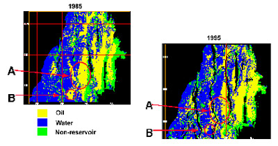 Changes in a Reservoir Seen through 4-D Seismic
