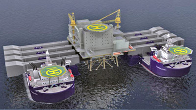 Lifting Arms Extend to Enable Heavy Lift Installations Offshore
