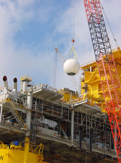 Satellite Installation on an Offshore Facility
