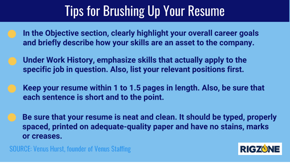 Tips for Brushing Up Your Resume